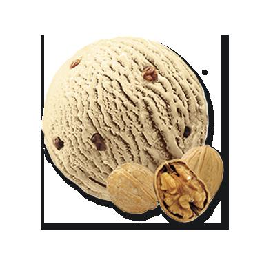 Baumnuss mit Nussstückchen