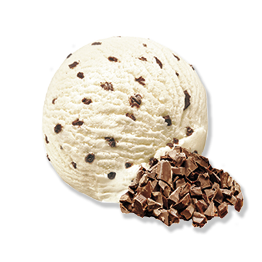 Stracciatella mit Schokoladensplittern