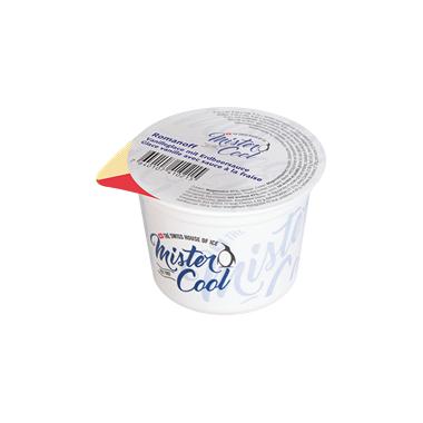 Romanoff / Vanilleglace mit Erdbeersauce